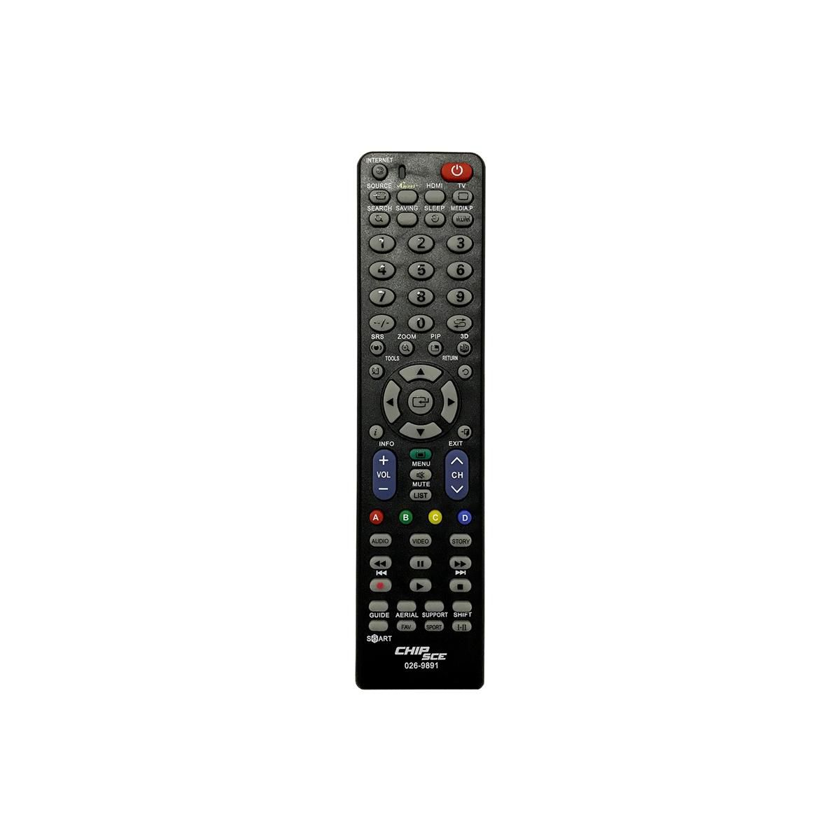 controle remoto universal 026-9891 chipsce para tv lcd samsung